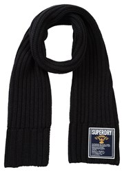 Superdry Super Cable Plain Scarf Grey