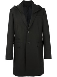 Paolo Pecora Buttoned Hooded Coat Brown