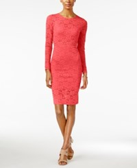 Material Girl Juniors' Lace Illusion Bodycon Dress Only At Macy's Rose