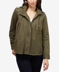 Lucky Brand Hooded Utility Jacket Olive Night