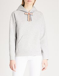 Maje Embellished Bow Detail Hoody Grey