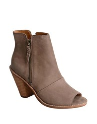Corso Como Tameka Leather Peep Toe Booties Brown