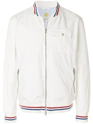 Gant Rugger Baseball Bomber Jacket White