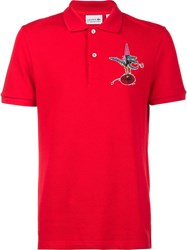 Lacoste Jean Paul Goude Printed Logo Polo Shirt Red