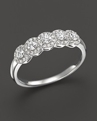 Bloomingdale's Diamond Halo Band Ring In 14K White Gold .50 Ct. T.W.
