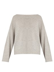 Vince Boat Neck Cashmere Sweater Light Grey