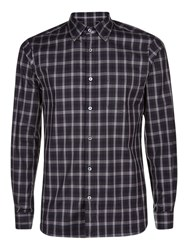 Aquascutum London Harley Club Check Shirt Blue