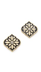 Kate Spade Moroccan Tile Statement Stud Earrings Black