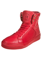 Boom Bap Karma Hightop Trainers Triple Red