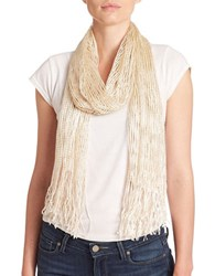 Collection 18 Lurex Net Scarf Winter White