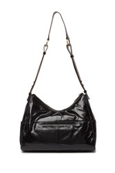 Hobo Horizon Leather Shoulder Bag Black