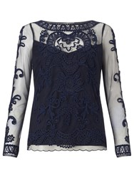 Alice By Temperley Somerset By Alice Temperley Fabienne Lace Top Navy