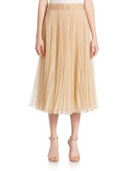 Abs By Allen Schwartz Metallic Tulle Pleated Circle Skirt