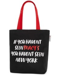 Macy's Canvas Tote Only At Black