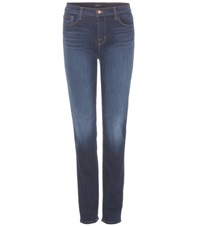 J Brand Maria High Rise Straight Jeans Blue