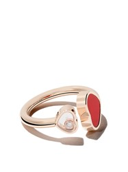 Chopard 18Kt Rose Gold Happy Hearts Diamond Ring Unavailable