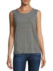 N Philanthropy Edith Heathered Studded Muscle Tank Top Heather Grey