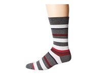 Lacoste Jersey Stripe Crew Sock Pitch Silver Chine Navy Blue Chine Burgundy Chine Tokyo Chine Men's Crew Cut Socks Shoes Gray