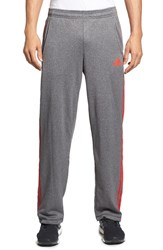 Men's Adidas 'Ultimate' Fleece Pants Dark Solid Grey Vivid Red