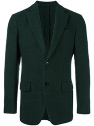 Massimo Piombo Mp Two Button Blazer Green