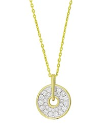 Frederic Sage 18K White And Yellow Gold Firenze Small Graduated Diamond Spinning Disc Pendant Necklace 16 White Gold