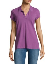 Ck Calvin Klein Solid Cotton Blend Polo Purple