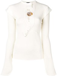 Ellery Abstract Details Knitted Top Neutrals
