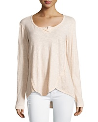 W By Wilt Shrunken Long Sleeve Henley Blossom
