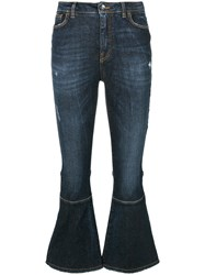 Dolce And Gabbana Kick Flare Jeans Women Cotton Spandex Elastane 38 Blue