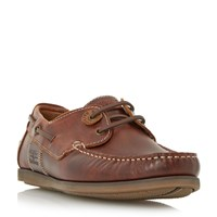 Barbour Capstan Eyelet Lace Up Boat Shoes Brown