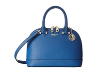 Dkny Bryant Park Saffiano Mini Round Crossbody W Det Shoulder Strap Blue Cross Body Handbags
