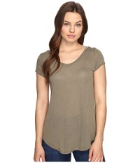 Obey Lou V Neck Tee Olive Women's T Shirt