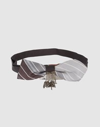 H. Eich Small Leather Goods Belts Women Grey