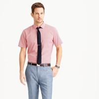 J.Crew Ludlow Short Sleeve Shirt In Red Gingham