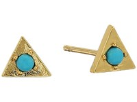 Gorjana Mirrah Triangle Studs Earrings Gold Turquoise Earring Multi