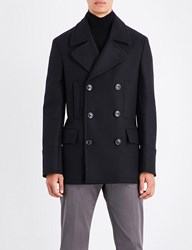 Paul Smith Double Breasted Wool Peacoat Navy