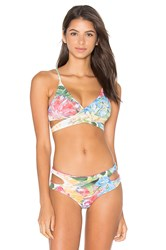 San Lorenzo Cut Out Wrap Bikini Top Pink