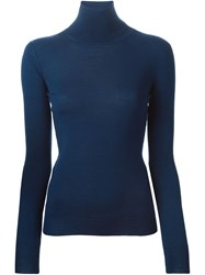 Ermanno Scervino Turtle Neck Sweater Blue