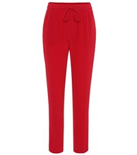 Red Valentino Silk Sweatpants Red