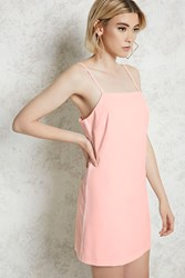 Forever 21 Mini Slip Dress Blush Cream