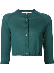 Marni Cropped Cardigan Green