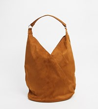 Glamorous Exclusive Slouchy Tote Bag In Brown Suedette