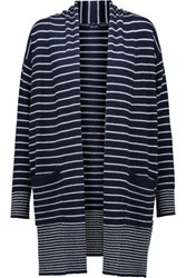 Splendid Striped Knitted Cardigan Storm Blue