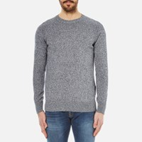 Barbour Men's Cotton Staple Crew Knitted Sweater Navy Blue