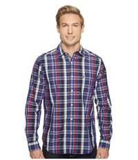 Nautica Long Sleeve Large Plaid Shirt Red Men's Long Sleeve Button Up