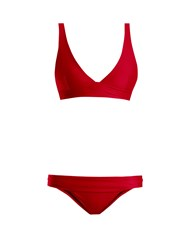 Haight Low Rise Triangle Bikini Red