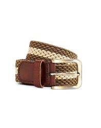 The Idle Man Elastic Weave Belt Green And Stone