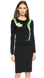 Moschino Cheap And Chic Snake Cardigan Black