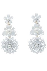 Elizabeth Cole Woman Coated Gold Plated Faux Pearl Earrings White