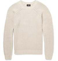 A.P.C. Cable Knit Cotton Sweater Cream